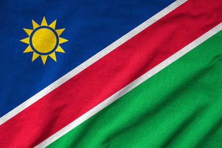 Ruffled Namibia Flag photo