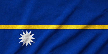 Ruffled Nauru Flag Stock Photo - 22832517
