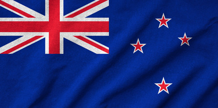 Ruffled New Zealand Flag photo