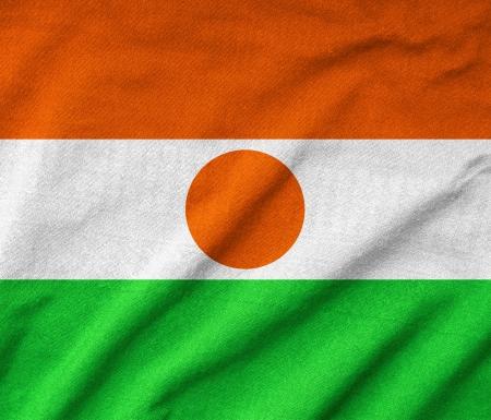 Ruffled Niger Flag Stock Photo - 22832522