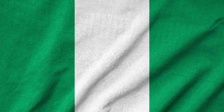 rumple: Ruffled Nigeria Flag Stock Photo