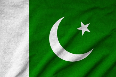 pakistan flag: Ruffled Pakistan Flag