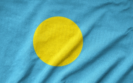 Ruffled Palau Flag photo