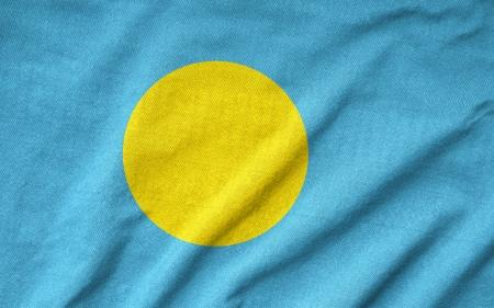 Ruffled Palau Flag Stock Photo - 22832529