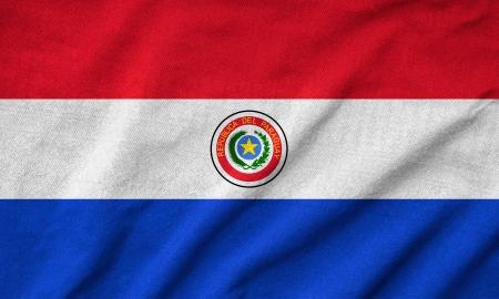 Paraguay flag: Volantes Paraguay Flag Foto de archivo