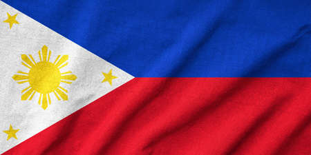 Ruffled Philippines Flag photo