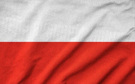 Ruffled Poland Flag Stock Photo - 22832474