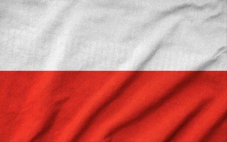 Ruffled Poland Flag Stock Photo - 22832474