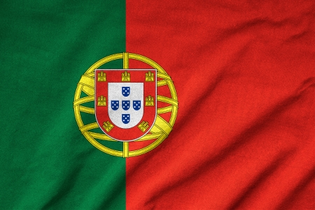Ruffled Portugal Flag Stock Photo - 22832475