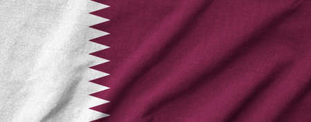 Ruffled Qatar Flag photo