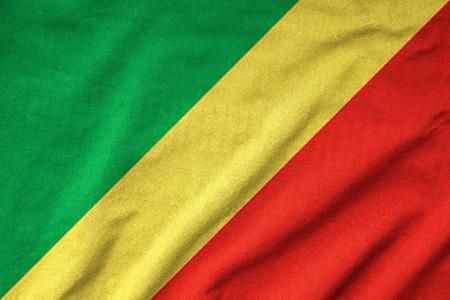 Ruffled Republic of the Congo Flag Stock Photo - 22832477
