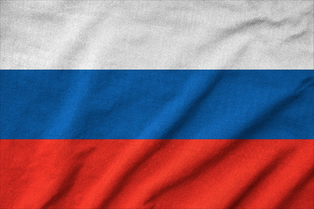 Ruffled Russia Flag Stock Photo - 22832478