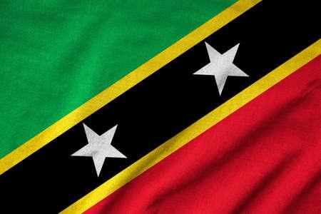 Ruffled Saint Kitts and Nevis Flag Stock Photo - 22832479