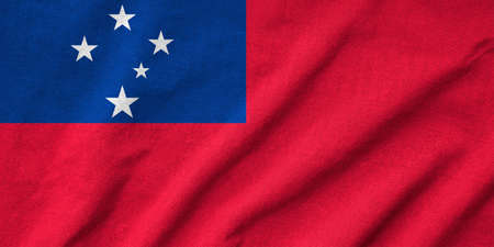 Ruffled Samoa Flag Stock Photo - 22832481
