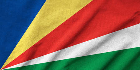 Ruffled Seychelles Flag Stock Photo - 22832487