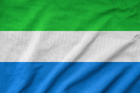Ruffled Sierra Leone Flag Stock Photo - 22832488