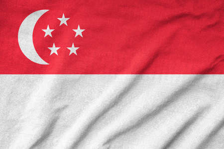 Ruffled Singapore Flag