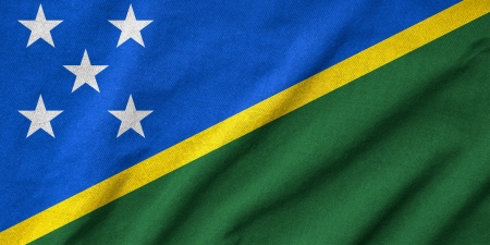 Ruffled Solomon Islands Flag photo