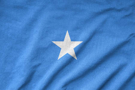 Ruffled Somalia Flag photo