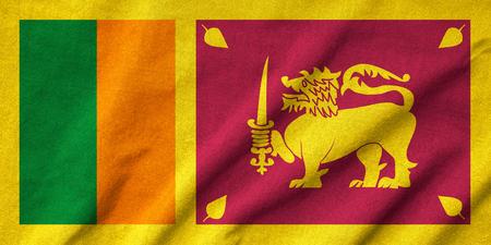 lanka: Ruffled Sri Lanka Flag