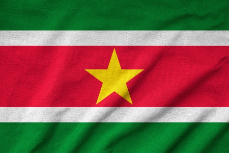 Ruffled Suriname Flag photo