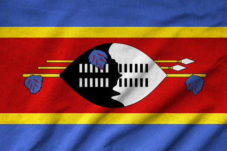 Ruffled Swaziland Flag photo