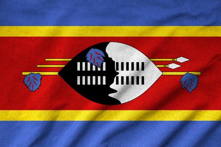 Ruffled Swaziland Flag Stock Photo - 22832451