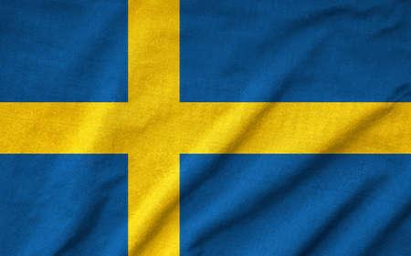 bandera de suecia: Riz� la bandera de Suecia