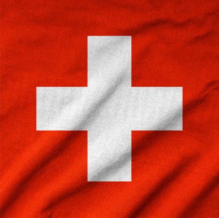 Ruffled Switzerland Flag Stock Photo - 22832453