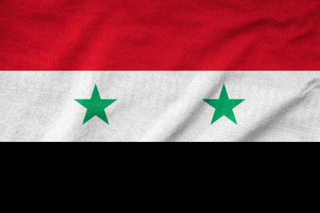 Ruffled Syria Flag photo