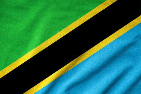 Ruffled Tanzania Flag Stock Photo - 22832456
