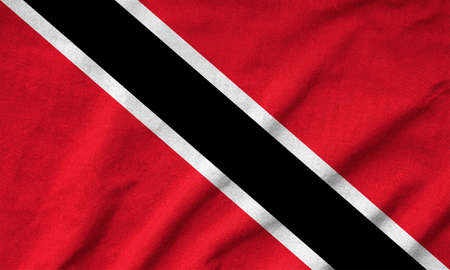 Ruffled Trinidad and Tobago Flag Stock Photo - 22832461