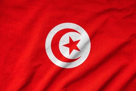 Ruffled Tunisia Flag Stock Photo - 22832462