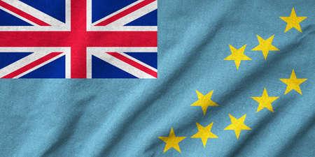 tuvalu: Ruffled Tuvalu Flag