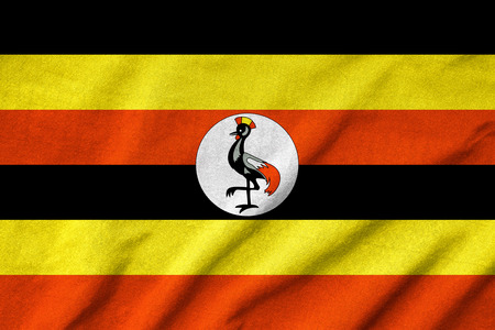 Ruffled Uganda Flag photo