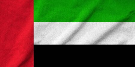 Ruffled United Arab Emirates Flag photo