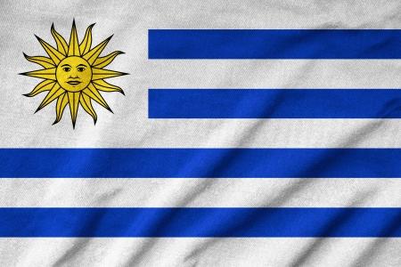 uruguay flag: Ruffled Uruguay Flag