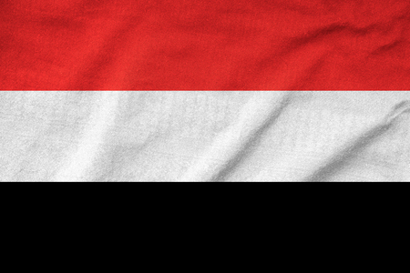 Ruffled Yemen Flag Stock Photo - 22832403