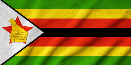 Ruffled Zimbabwe Flag photo