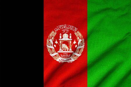 rumple: Ruffled Afghanistan Flag
