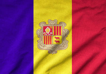 Ruffled Andorra Flag Stock Photo - 22832410