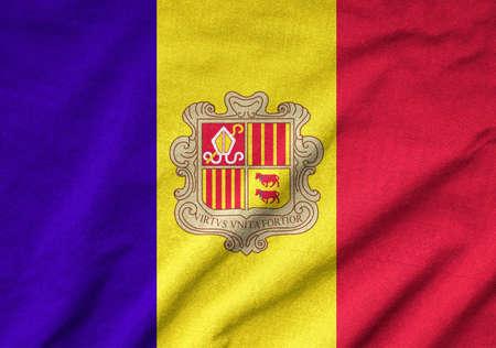 Ruffled Andorra Flag Stock Photo - 22832410