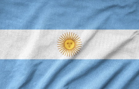 Ruffled Argentina Flag Stock Photo - 22832433