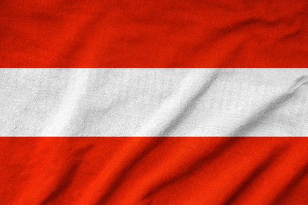 Ruffled Austria Flag photo