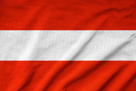Ruffled Austria Flag Stock Photo - 22832437
