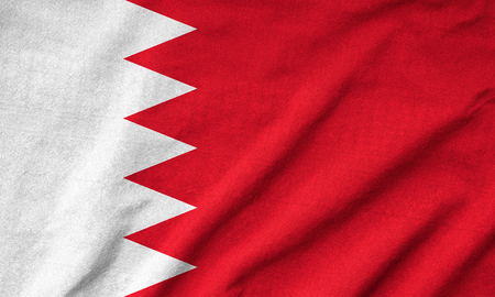 Ruffled Bahrain Flag photo