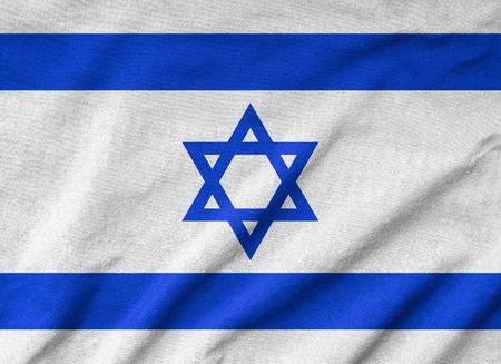 Ruffled Israel Flag photo