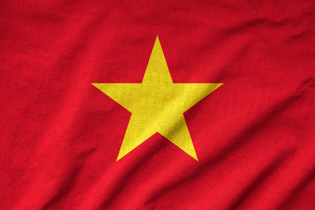 Ruffled Vietnam Flag photo
