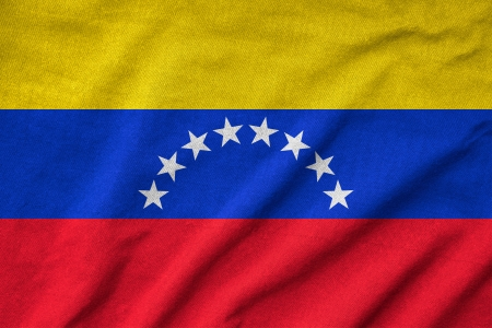 Ruffled Venezuela Flag photo