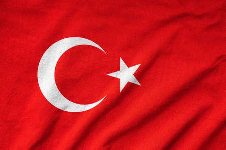 Ruffled Turkey Flag Stock Photo - 23150149